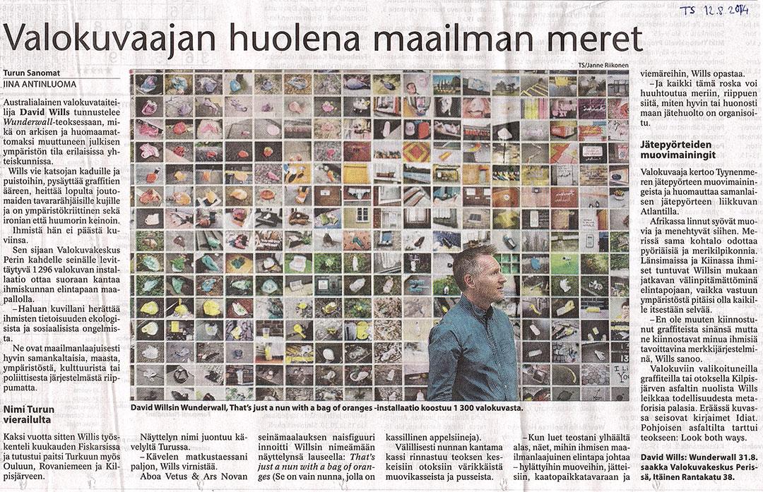 Article in Turun Sanomat
