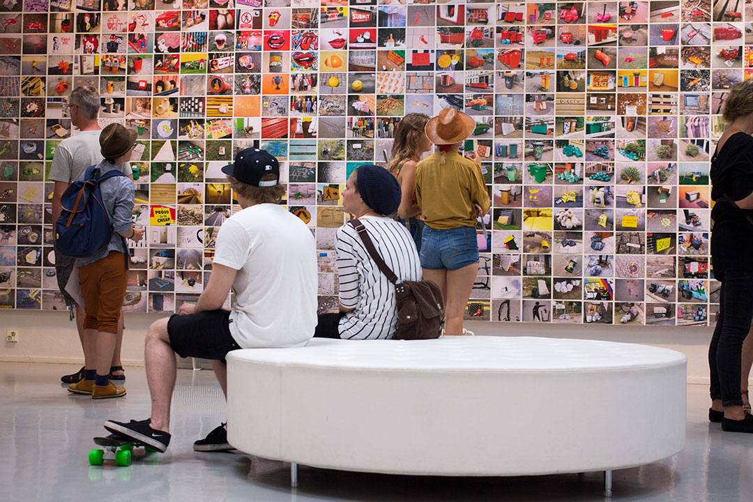 Installation view of a Wunderwall