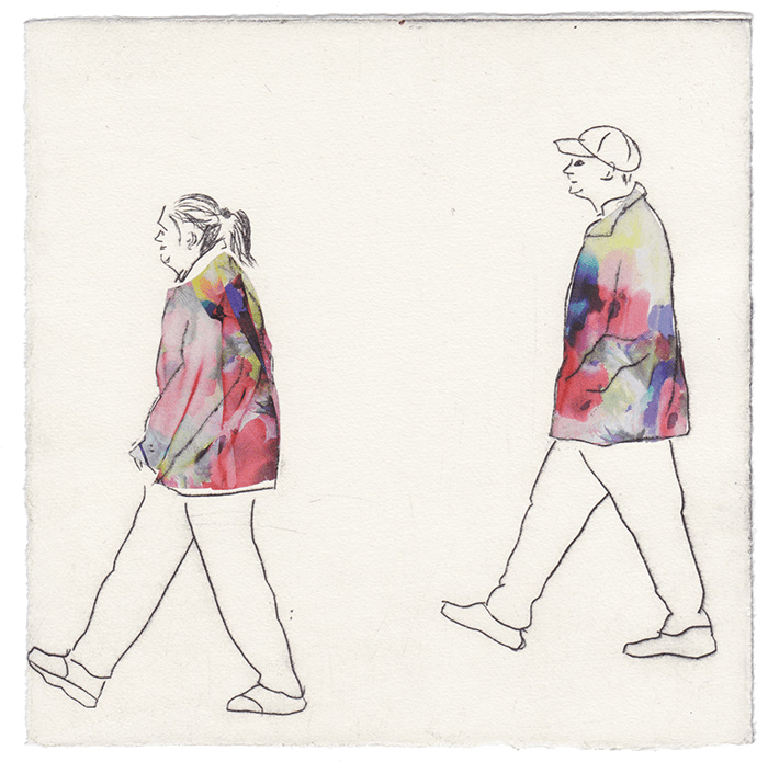 A couple walking in Karis