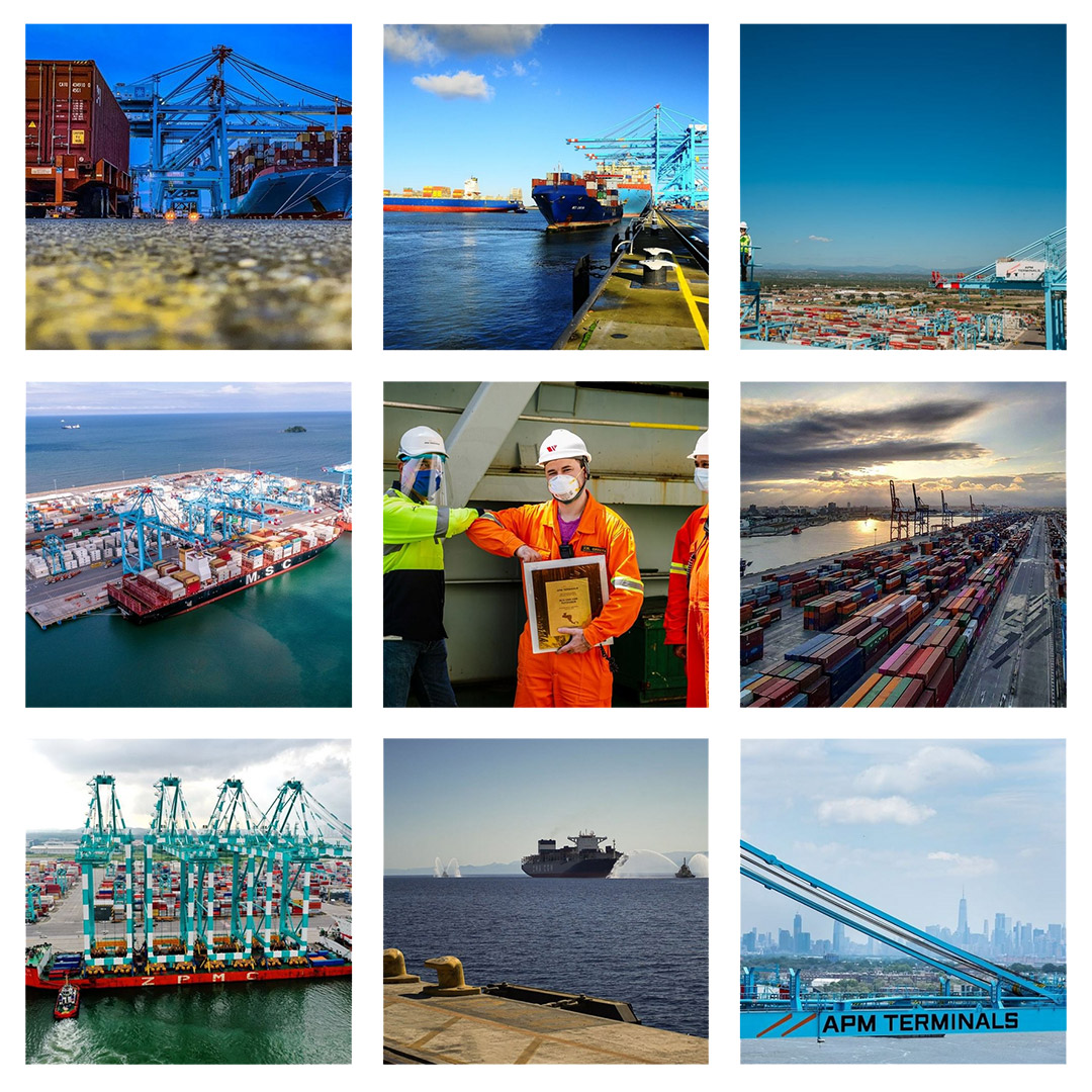 Instagram grid from APM Terminals