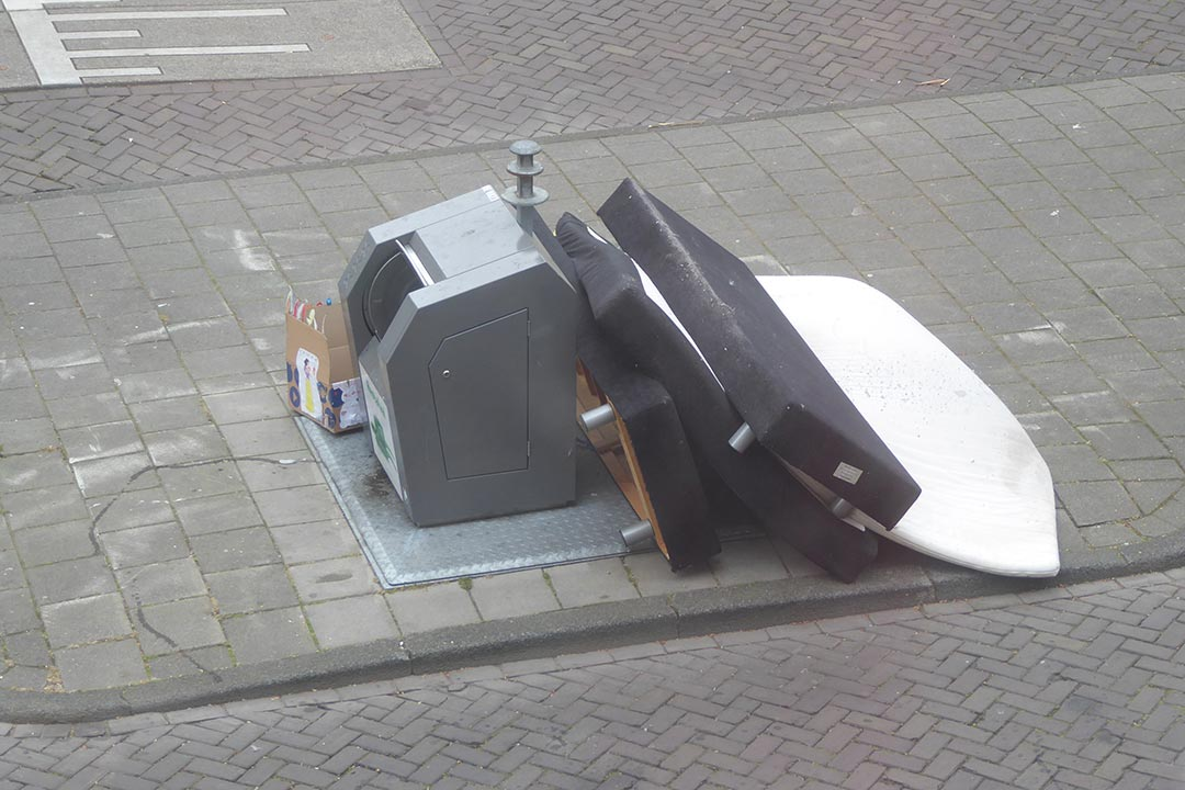 Bin with bed