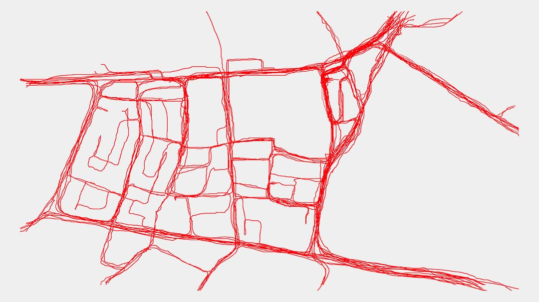 Line drawing of Sydney suburb Chippendale