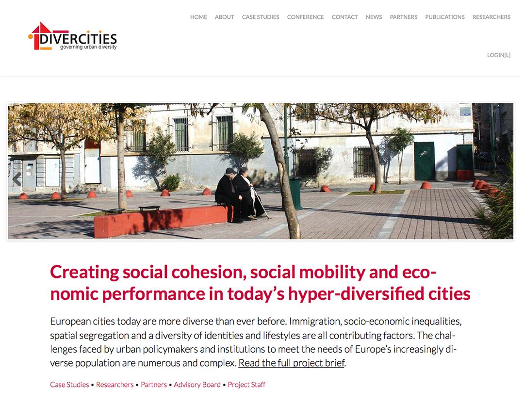 Screenshot of Divercities website